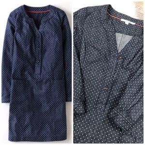 Boden Denim Polka Dot Shirt Dress size 8P